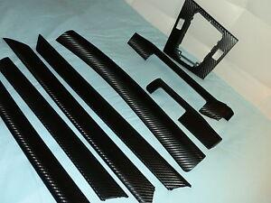 Dekorleisten Interieurleisten BMW E46 Carbon 3D Struktur Folien Set Schwarz