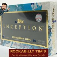 2021 Topps Inception BASEBALL Hobby BOX BREAK- 1 RANDOM TEAM *READ description.
