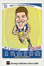 2011 AFL Teamcoach Cards Magic Wild Card MW11 Andrew Swallow (North Melbourne)