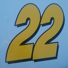 Race Car Number Stickers 22 Yellow And Black X2