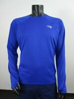 Mens The North Face Winter Warm L/S Grid Crew Long Sleeve Baselayer Shirt - Blue
