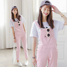 Korean Sweet Casual Straps Bib Overall Denim Jumpsuit Playsuit Trousers Pants