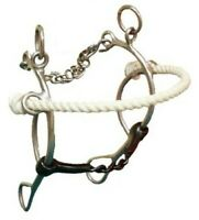 Western Saddle Horse Combination Hackamore 5.5 Chain Mouth Bit w/ Curb Chain