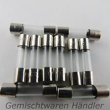 10 Stück Feinsicherung Glassicherung Flink 20mm 4 A Sicherungen 4A