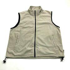 VINTAGE Gander Mountain Fleece Jacket Size XL 1X Full Zip Vest Sleeveless Mock