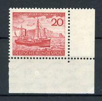 Bund MiNr. 152 postfrisch MNH Eckrand unten rechts (S061