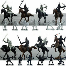 Kids Toy Medieval Knights Warriors Horses Soldiers Figures Model Playset 28Pcs