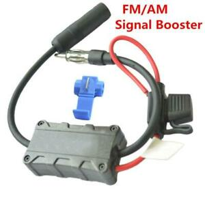 12V Universal Automobile Car FM AM Radio Stereo Antenna Signal Amplifier Booster