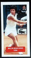 TENNIS - USA - BILLIE-JEAN KING Score 'Champions of World Sports' trade card