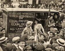 WOMEN SUFFRAGE MOVEMENT RIGHT TO VOTE VINTAGE PHOTO EQUAL RIGHT 1913 8x10 #21642