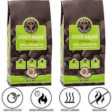 Grill Republic® Coco Brixx Grill-Briketts 17kg | Kokos-Kohle Grill & Dutch Oven