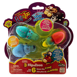 Flip A Zoo Includes 3 FlipaZoos for 6 Times the Fun - 1 pack supplied at random