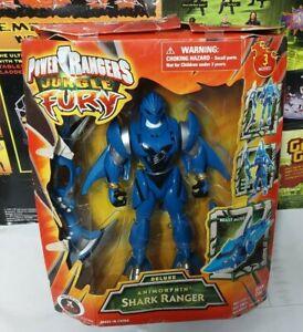 2008 Bandai Deluxe Animorphin' Blue Shark Ranger POWER RANGERS Jungle Fury New