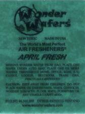 Wonder Wafer Car/Truck Air Freshner APRIL FRESH Scent 1 Wafer