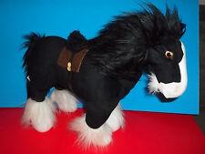 "Disney Store Pixar Brave ANGUS Merida's Horse Clydesdale Black Large 17"" Plush"