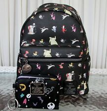 Disney Loungefly Nightmare Before Christmas Mini Backpack & Wallet Nwt