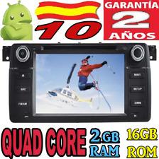 "ANDROID 10 BMW E46 / M3 COCHE CAR AUDIO DVD GPS 4G GPS RADIO QUAD CORE 7""HD SD"