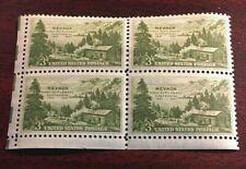 US, NEVADA CENTENNIAL, 3c 1951, 4-Stamp Block, MINT, SeeDescr, Scott#999   PB35