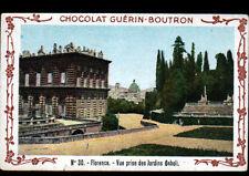 IMAGE CHOCOLAT GUERIN BOUTRON / FLORENCE ITALIE / JARDINS BOBOLI