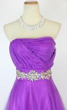 Masquerade Violet $190 Evening Prom Formal Cruise Long Dress size 3 Wedding Gown