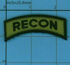 PVC RECON MORALE PATCH TAB UNIFORM FOREST WOODLAND VEST B39 GREEN SHOULDER ARMY