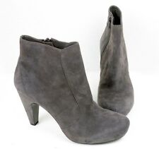 Ash Womens Size 8 US 39 EU Ankle Boots Gray Brush Off Suede Calfskin Heel $300
