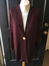 -out Chico's Travelers Dark Mulberry Button Jacket 1 M Medium 8 10