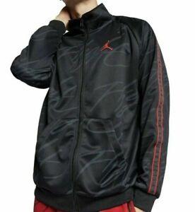Jordan JumpMan Tricot Men's Graphic Full Zip Jacket Black/Gym Red Size 3XL XXXL