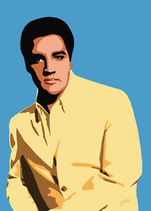 Elvis Presley - Sixties Elvis - Original (signed) art print - Jarod Art