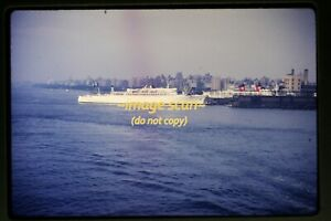 Passenger Ship at New York City in early 1960's, Original Slide g24a