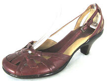 Sofft Shoes 8N Womens Red Leather Strappy Slingback Heel Pump 8 N Narrow