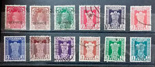 INDIA 1950 – 1951   12 USED STAMPS GOOD/FINE     B075    Free Shipping