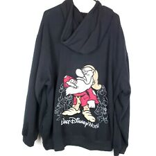 Vintage Walt Disney World Grumpy Black Zip Up Hoodie Men's Size XL