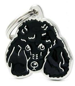 Poodle Dog ID Tag (20N) -  Engraved FREE -  Personalised Identity - Charm