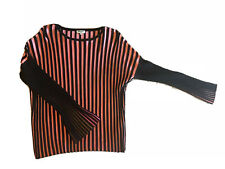 Kenzo Pleated Pink Black Stripe Sweater Size M 100% Authentic! Retail $310