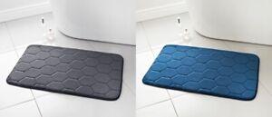 Supersoft Hexagon Design Midnight Memory Foam Filling Elegant Mat 50 x 80cm n