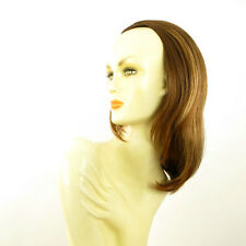 DT Half wig HairPiece coppery brown poly mesh light blonde 15.7 :21/6bt27b