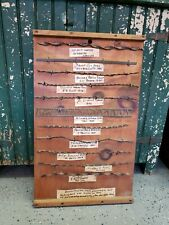 Antique Barbed Wire Display 1881-1893