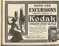 KODAK APPAREILS PHOTO CAMERAS PUBLICITE 1910