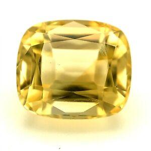 5.0ct  Creme  Citrine Loose Stone, Cushion, Brazil Natural Gemstone *Video*