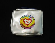 Ty Beanie Babies Original Official Club Silver Zippered Carrying Pouch Case VGUC