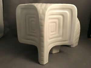 Jonathan Adler Menagerie Collection Modern Large Ceramic Elephant Matt White