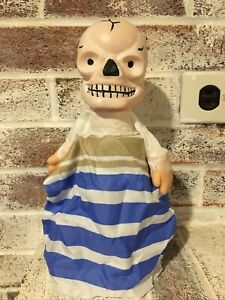 Vintage Mexican Halloween Monster Puppet Decoration Skull Skeleton