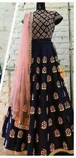 Indian Stylish Designer Bollywood Party Black Lehenga Anarkali Salwar Suit Dress
