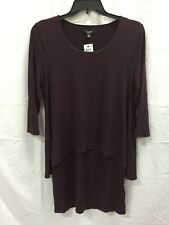 Alfani Dress 3/4 Sleeve Popover Wine 16P