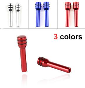 2x Alloy Car Interior Door Locking Lock Knob Pull Pins Caps Cover Accessories