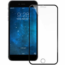 Premium3D Full Black Coverage Metal Tempered Glass Screen Protector For iphone 8