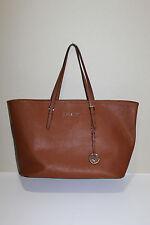 New MICHAEL Michael Kors Medium Travel Brown Leather Tote Shoulder Bag Purse