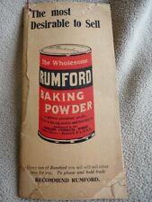 Rumford Baking Powder Advertising Note Book, Profit Scale - Vintage