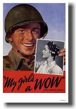 My Girl's a WOW - WWII GI - NEW Women Ordinance Worker Vintage Art Print POSTER